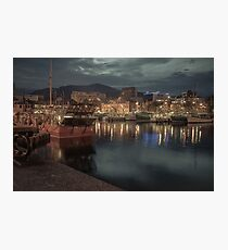 Hobart Harbour at night Photographic Print