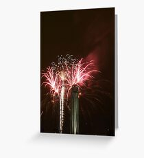 """Fireworks at """"Celebration At The Station"""" Greeting Card"""