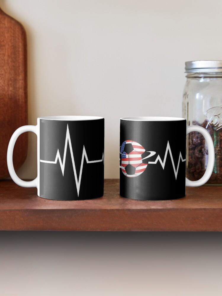 Alternate view of EKG Soccer USA Ensign Cardiologist Goalkeeper. Mug
