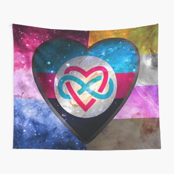 Polyamorous Bisexual Non-Binary Pride Flag Tapestry
