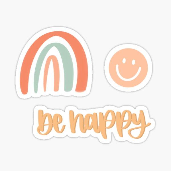 be happy positivity sticker pack Sticker