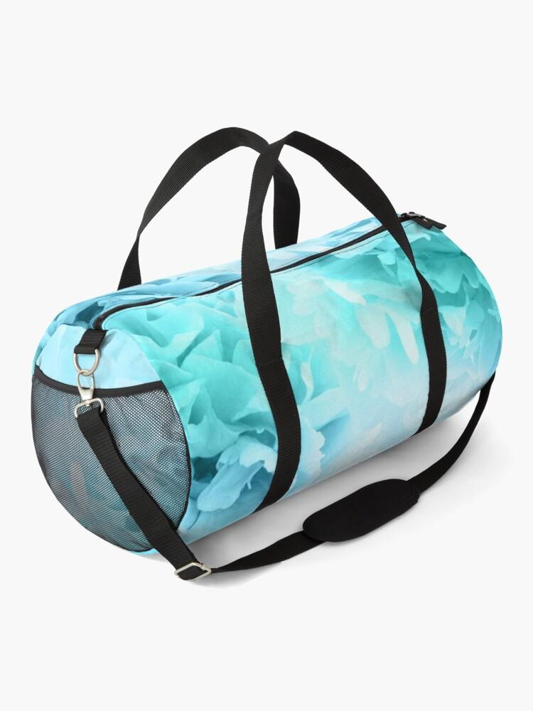 Alternate view of Aqua Blue Ocean Peonies Dream #1 #floral #decor #art Duffle Bag
