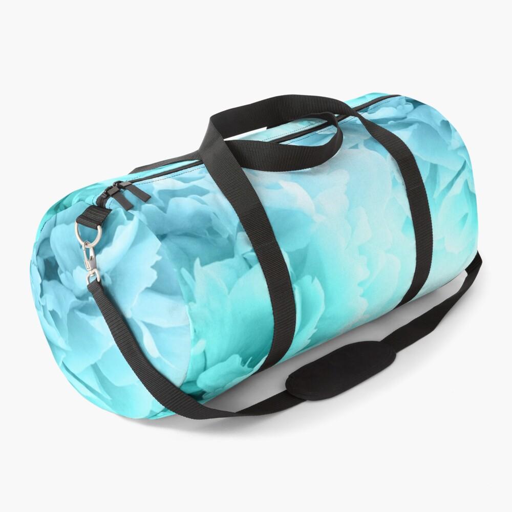 Aqua Blue Ocean Peonies Dream #1 #floral #decor #art Duffle Bag