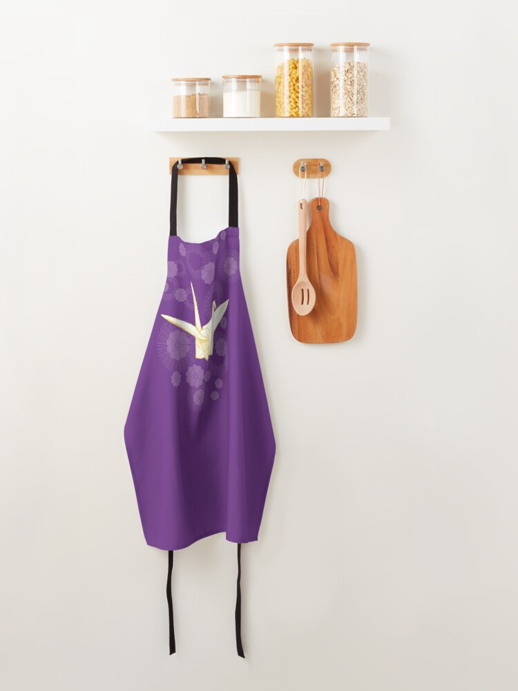 Alternate view of Paper Crane and Cherry Blossoms Apron