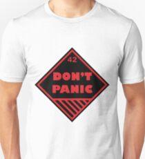 Don't Panic Shipping Placard T-Shirt