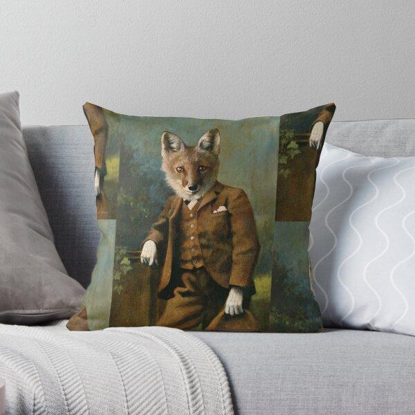 Young Master Fox Throw Pillow