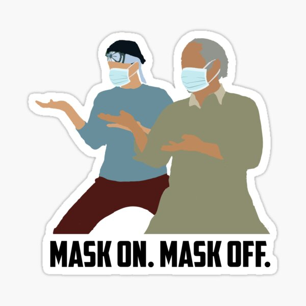 Mask On Mask Off Sticker