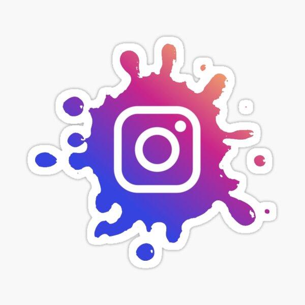 instagram splat Sticker