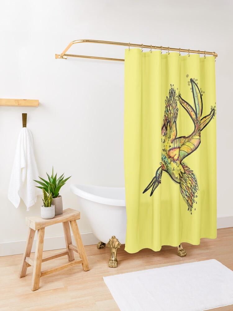 Alternate view of The Bird Shower Curtain