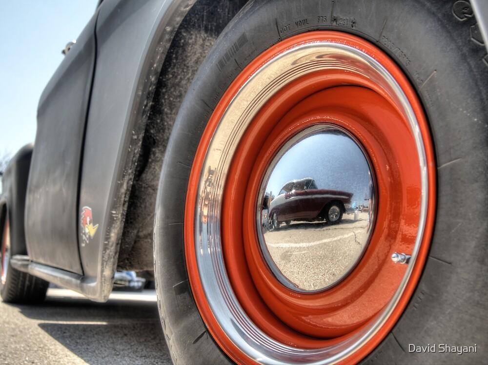 Classic Car Tire and Hub by David Shayani