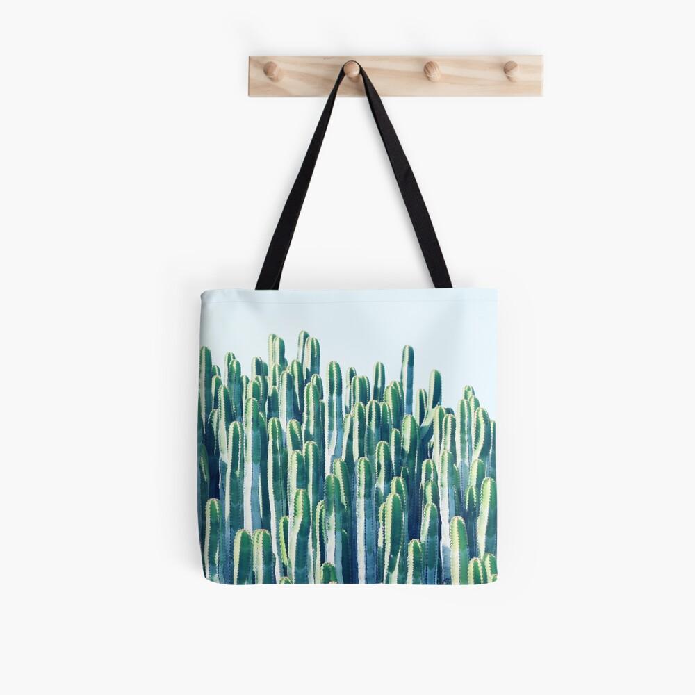 Tote bag «Cactus V2 #redbubble #home #lifestyle #buyart #decor»
