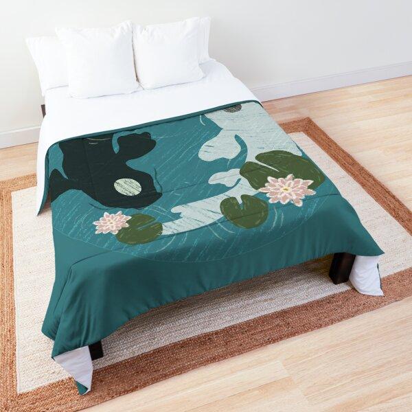 Yin Yang Koi Fish Pond  Comforter
