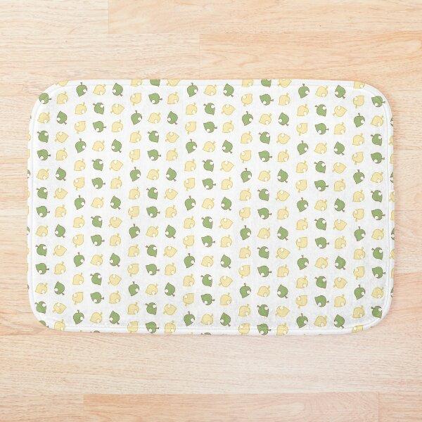 Animal Crossing Leaf Pattern Bath Mat