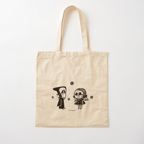 mask on mask Cotton Tote Bag