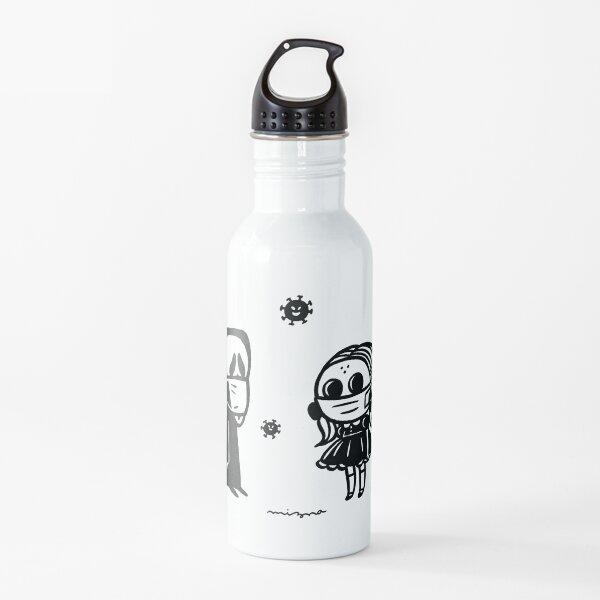 mask on mask Water Bottle
