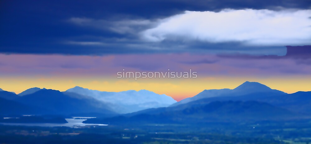 New Dawn over Loch Lomond by simpsonvisuals