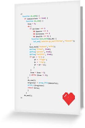 // the wedding code by swashandfold