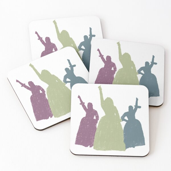 WORK! (and Peggy!) Coasters (Set of 4)