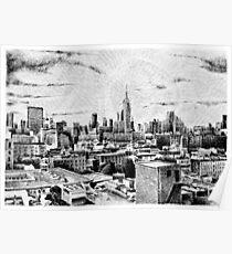 Fingerprint - New York - Black ink Poster
