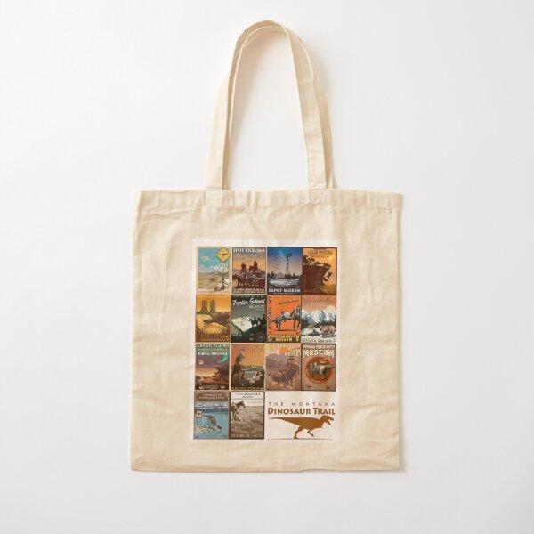 Montana Dino Trail Collection Cotton Tote Bag