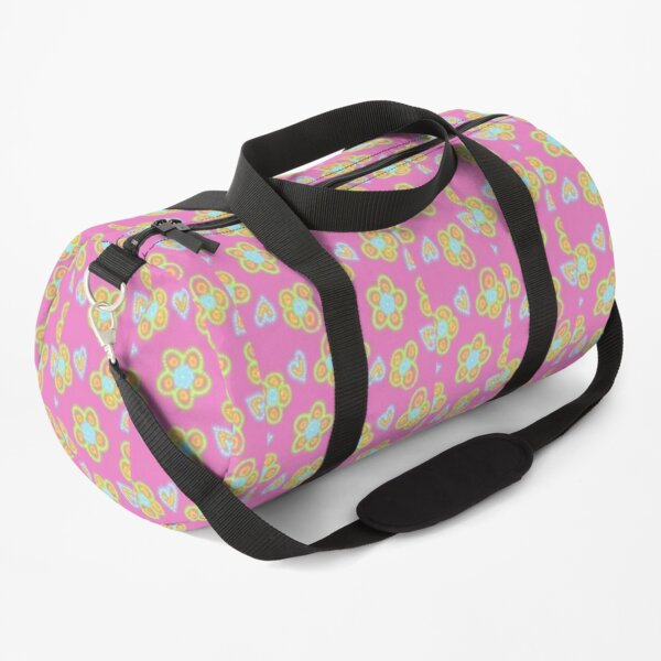 Trippy Flower Pattern Duffle Bag