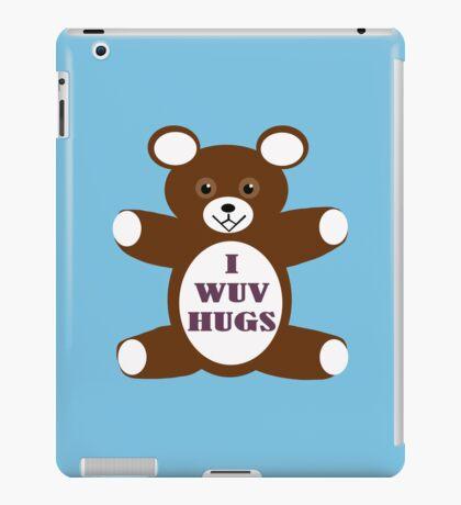 I wuv hugs iPad Case/Skin