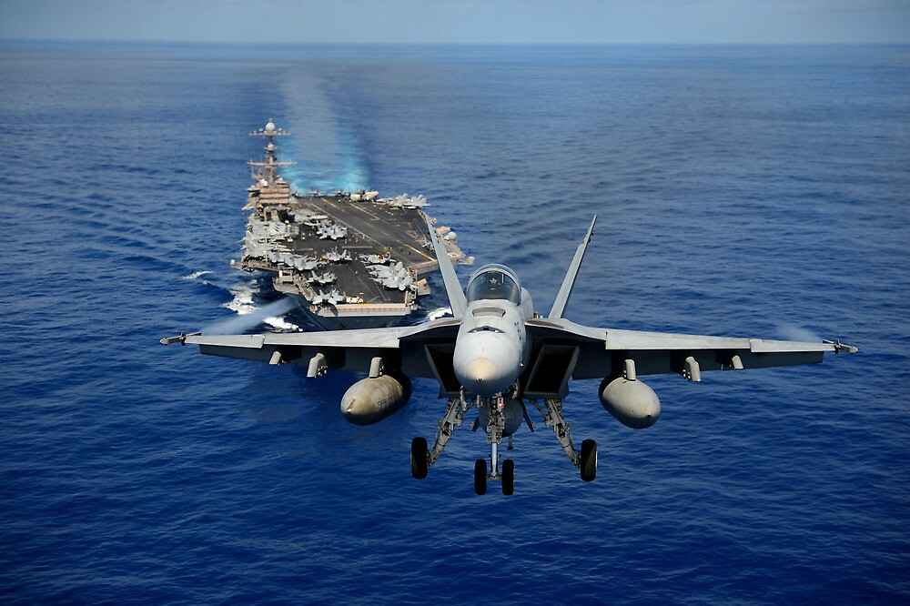 An F/A-18 Hornet demonstrates air power. by spitfirebbmf