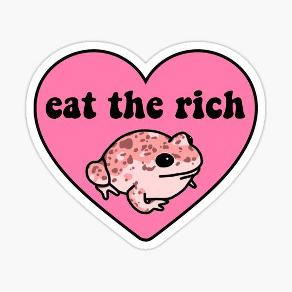 Come la rana rica Pegatina