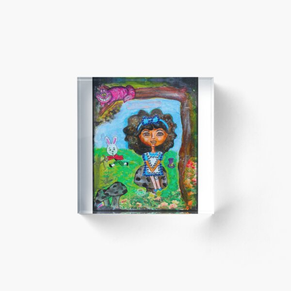 Alicia in Wonderland  Acrylic Block