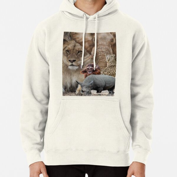 """A """"BIG 5"""" TEESHIRT DESIGN, ALL THE WAY FROM AFRICA ! Pullover Hoodie"""
