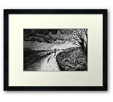 Fingerprint - Rain - Black ink Framed Print