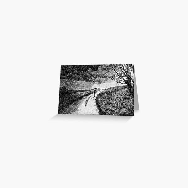 Fingerprint - Rain - Black ink Greeting Card