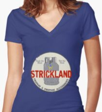 Strickland Propane Promotional Women's Fitted V-Neck T-Shirt