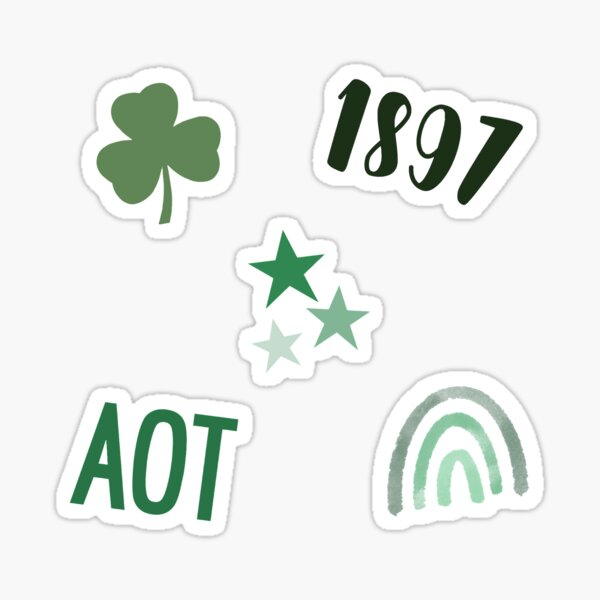 Green and White Sorority Pack Sticker