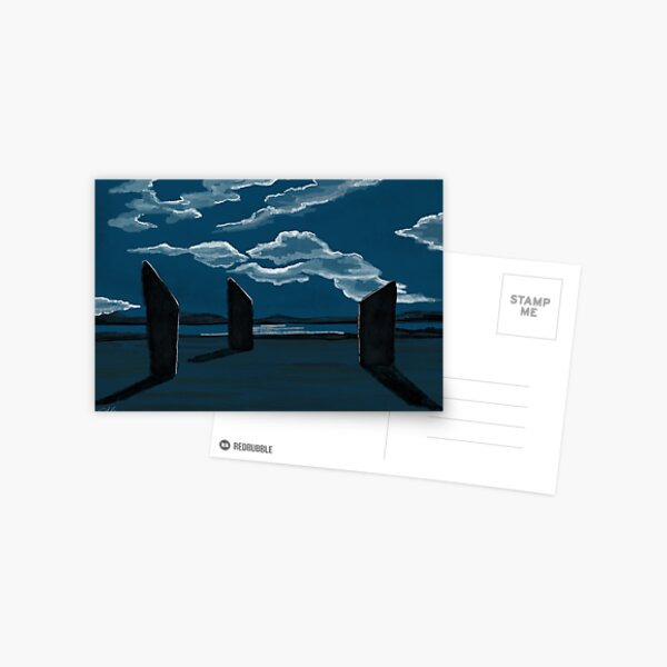 Moonlight at the Standing Stones of Stenness Postcard