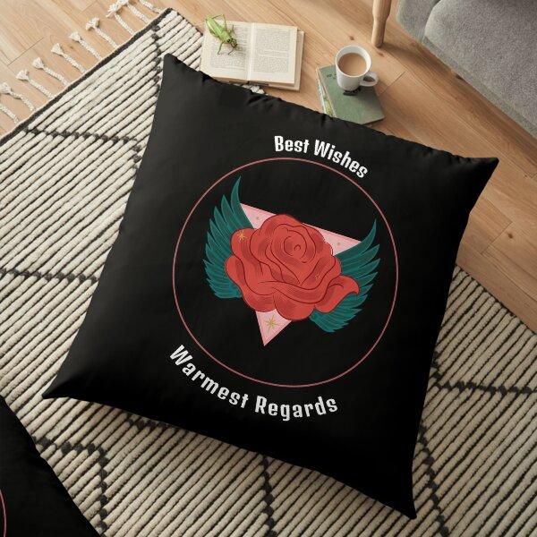 Best wishes, Warmest regards | Schitt's Creek | David | Rosebud Floor Pillow