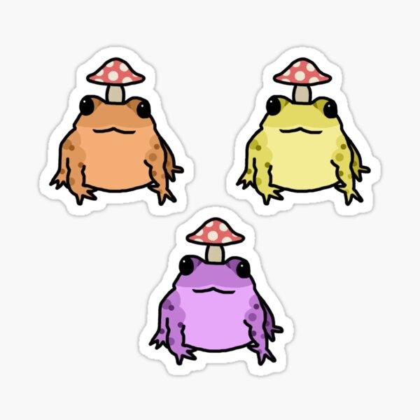 Pastel Toadstool Frog Sticker Pack Sticker