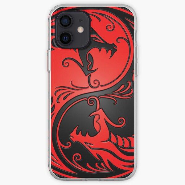 Yin Yang Dragons Rouge et Noir Coque souple iPhone