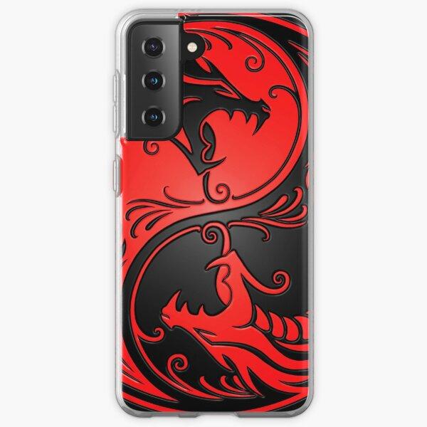 Yin Yang Dragons Red and Black Samsung Galaxy Soft Case