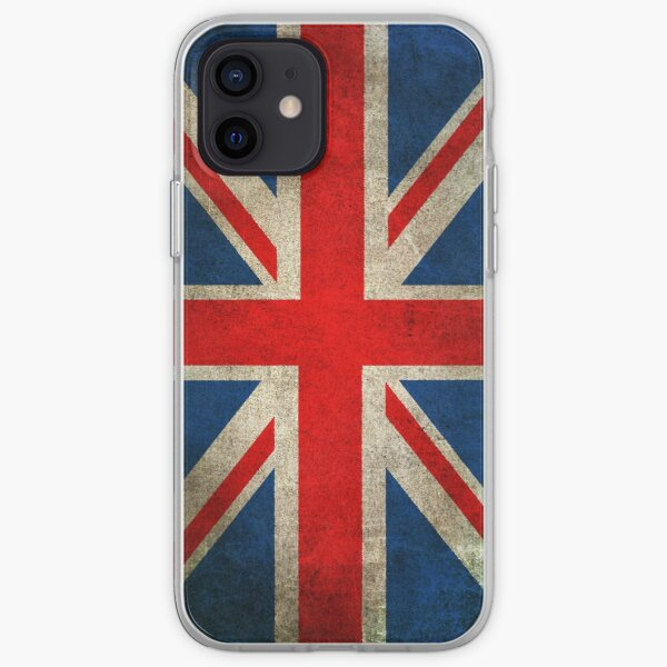 Old and Worn Distressed Vintage Union Jack Flag iPhone Soft Case