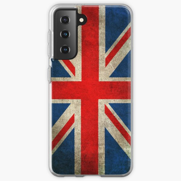 Old and Worn Distressed Vintage Union Jack Flag Samsung Galaxy Soft Case