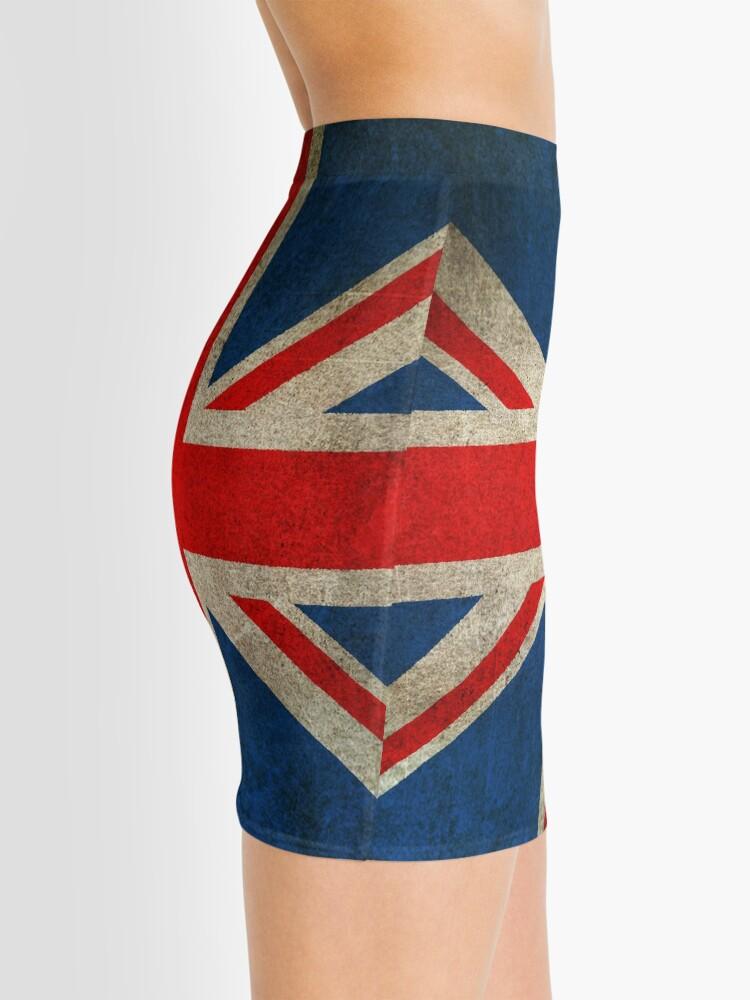 Alternate view of Old and Worn Distressed Vintage Union Jack Flag Mini Skirt