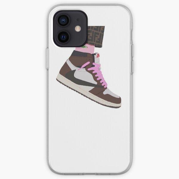 travis scott jordan 1 Funda blanda para iPhone
