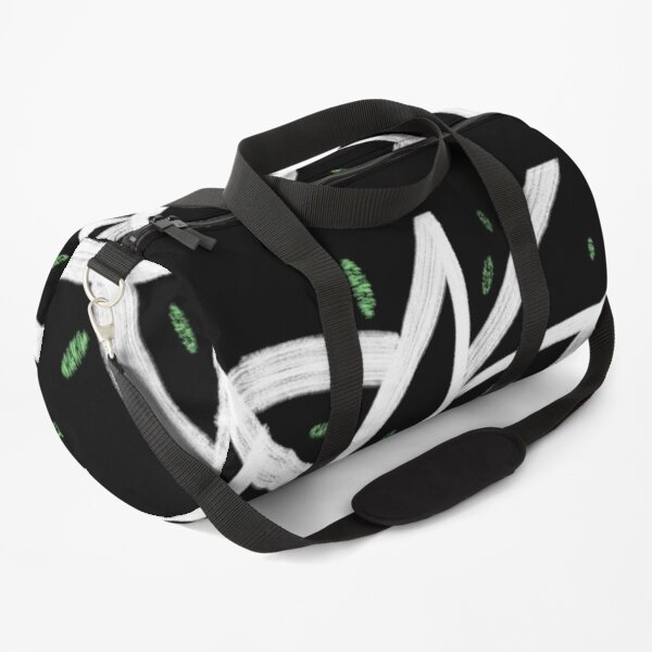 Black, White, and Green Abstract Duffle Bag
