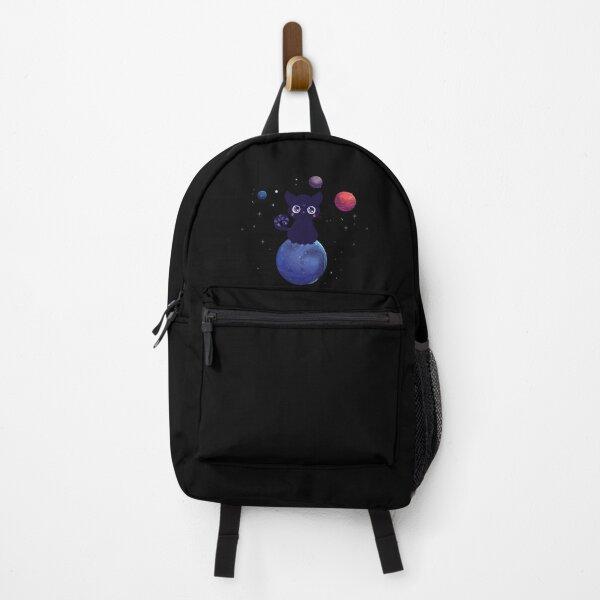 Feline Familiar /Night Sky/space planets  Backpack