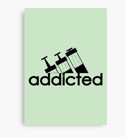 Addicted / Black Canvas Print