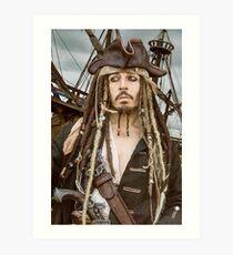 Captain Jack Sparrow  Art Print