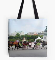 Austria - horse and buggy ride Tote Bag