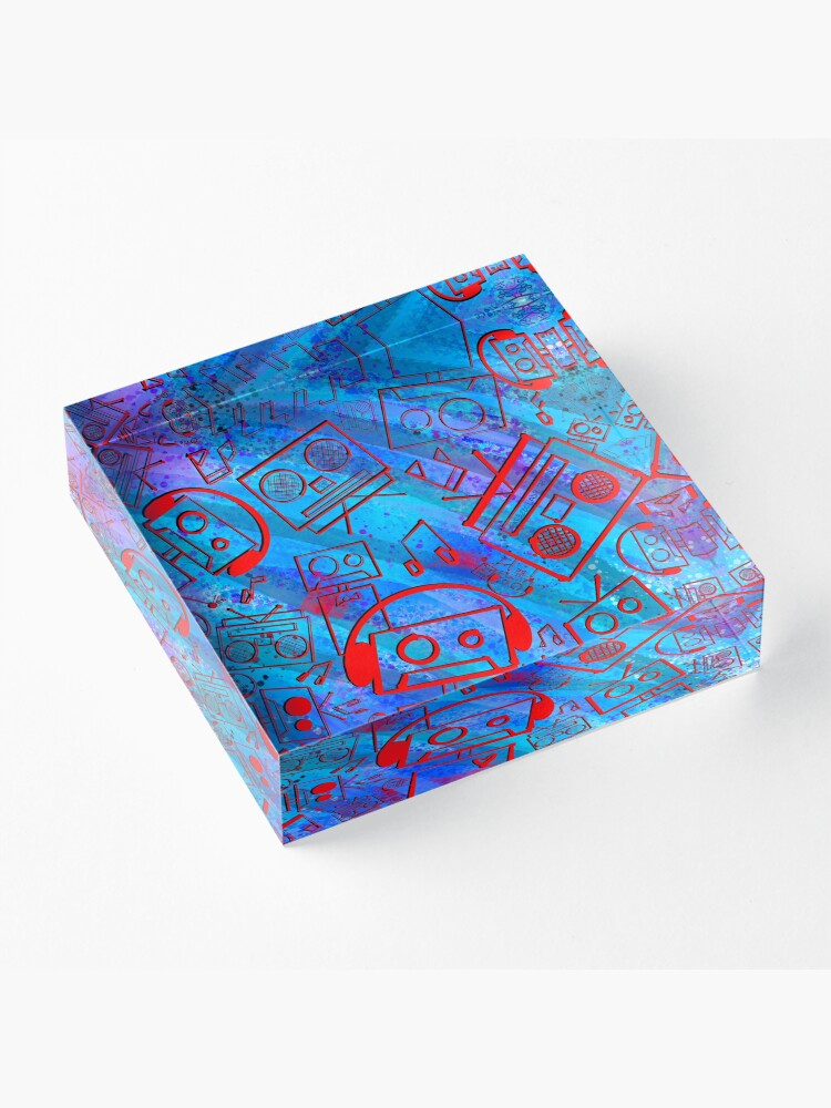 Alternate view of Boombots - Boombox Acrylic Block