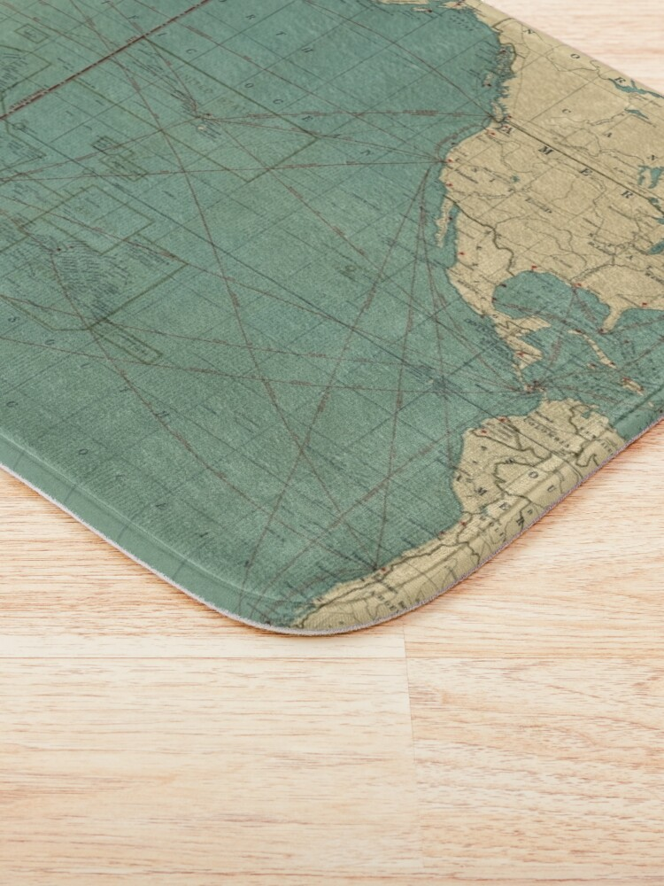 Alternate view of Vintage Map of the Pacific Ocean (1924) Bath Mat